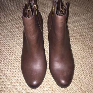 Sam Edelman Shoes - SAM EDELMAN Marmont Brown Leather Booties